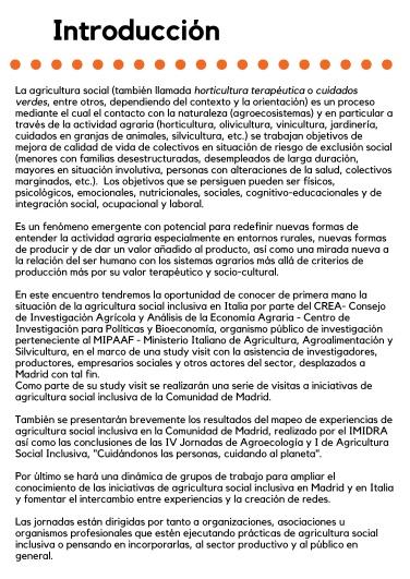 Encuentro de iniciativas de agricultura social inclusiva. Tejiendo redes, intercambiando experiencias entre España e Italia. (1)-2-2 (1)-001