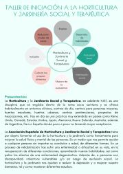 Taller de iniciación a la Horticultura y Jardinería Social y Terapéutica (1)