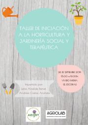 Taller de iniciación a la Horticultura y Jardinería Social y Terapéutica